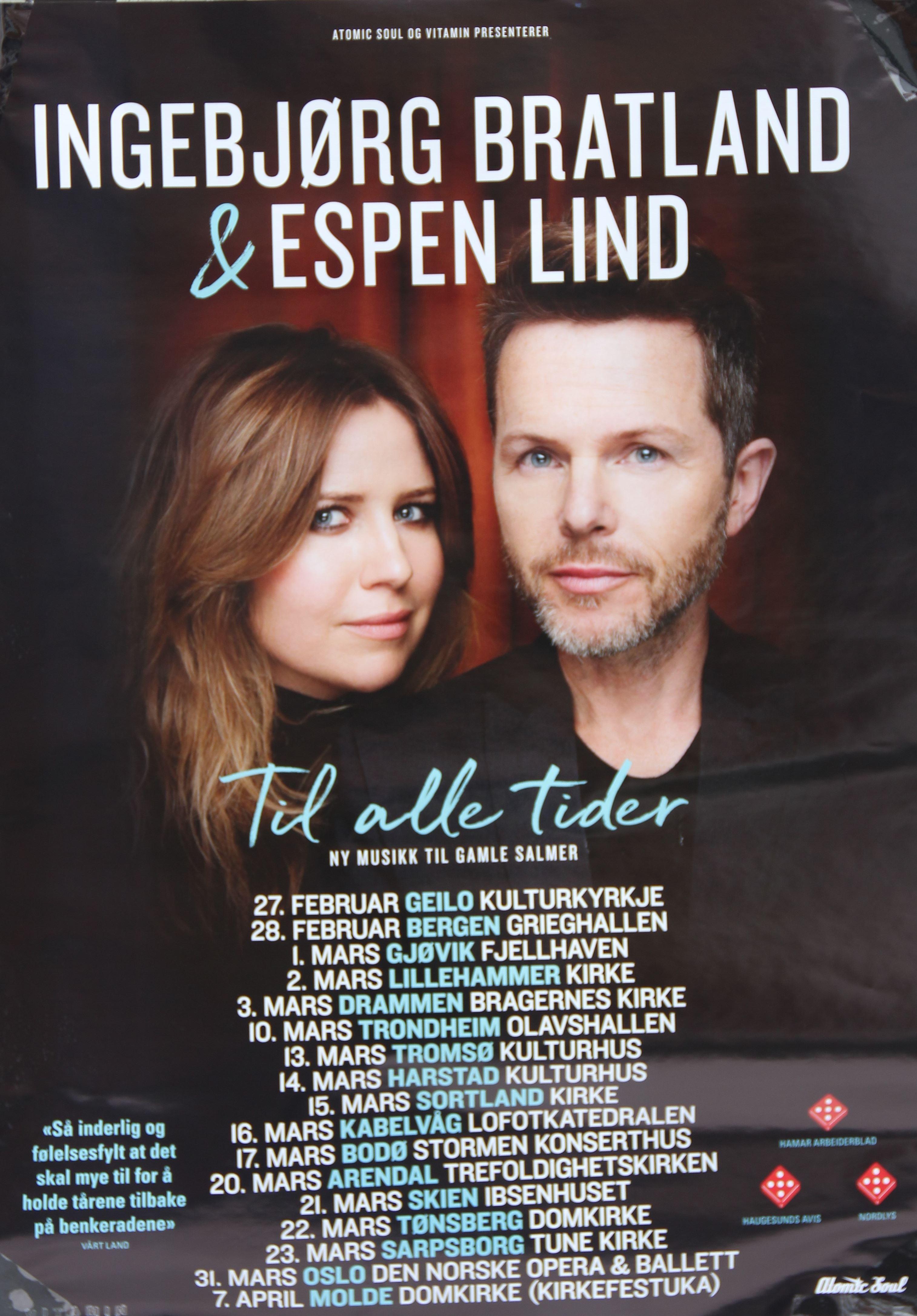 Ingebjørg Bratland og Espen Lind: TIL ALLE TIDER