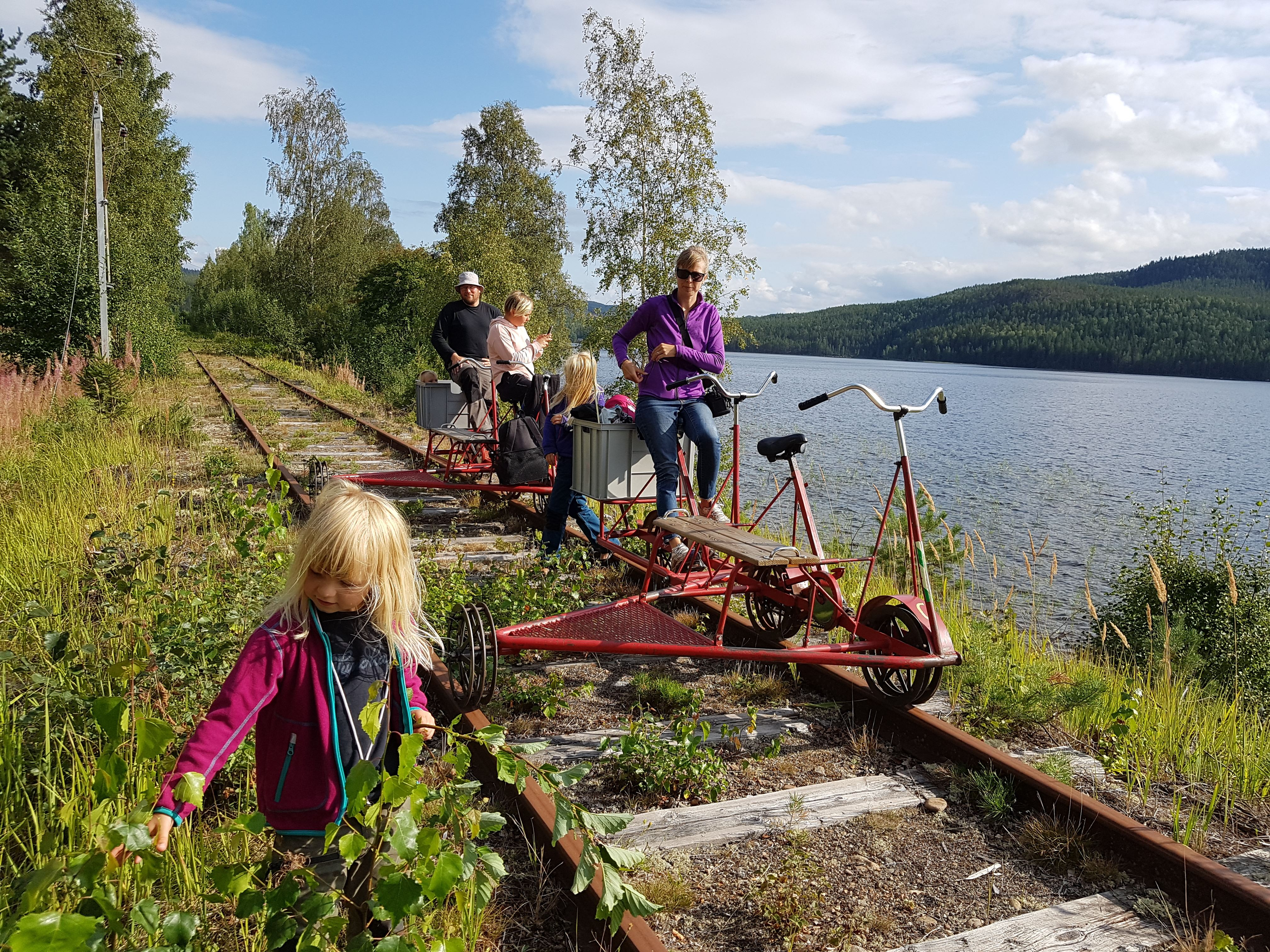 Fredric Berg, Rail trolley riding on Dellenbanan (the Dellen railroad)