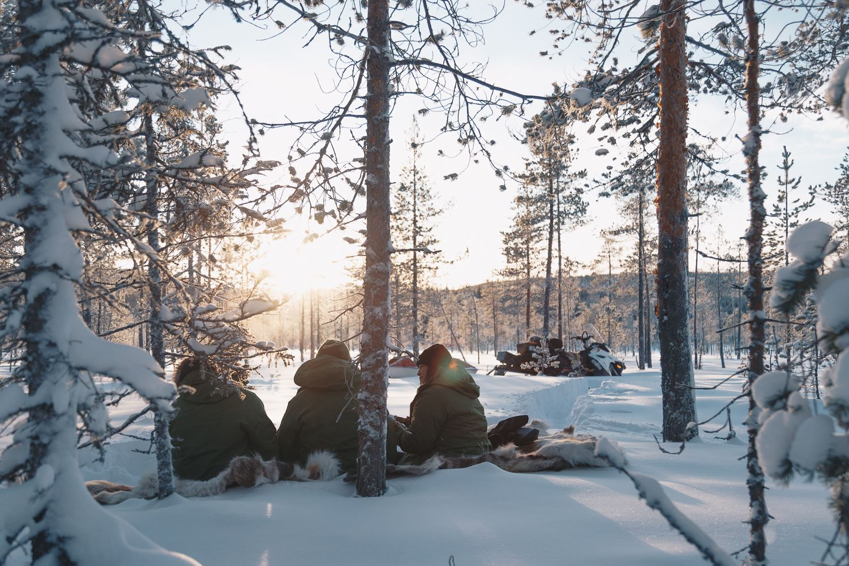 Fot0 Bea Holmberg,  © Granö Beckasin, Snowmobile in Granö