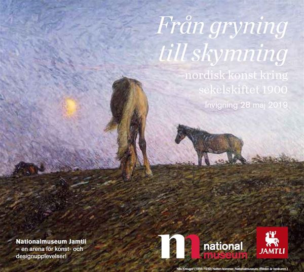 """© Nationalmuseum Jamtli, """"Från gryning till skymning"""" ( From dawn to dusk ) - Nordic art around the turn of the century 1900"""