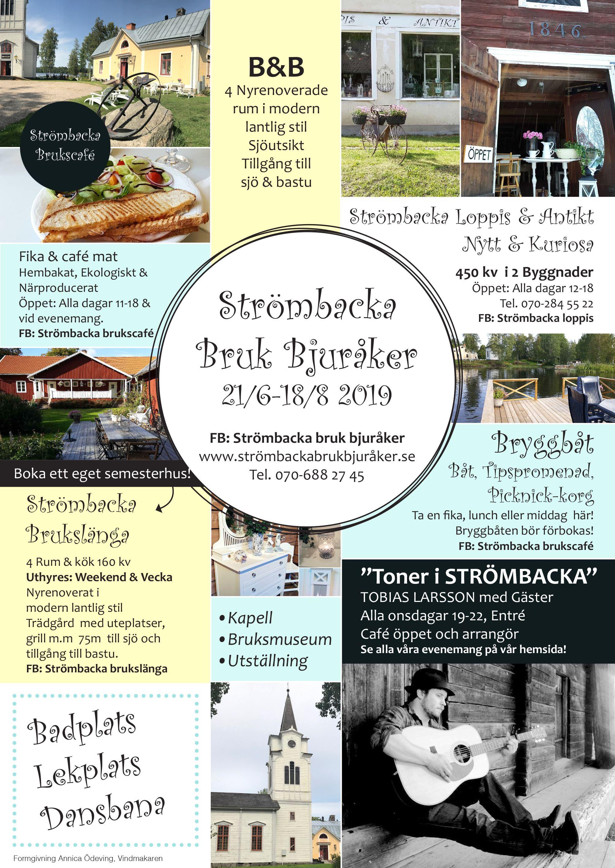 Strömbacka Bruk Bjuråker,  © Strömbacka Bruk Bjuråker, Sommar 2019 aktiviteter