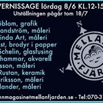 Vernissage 8 juni & utställning - Hamnmagasinet
