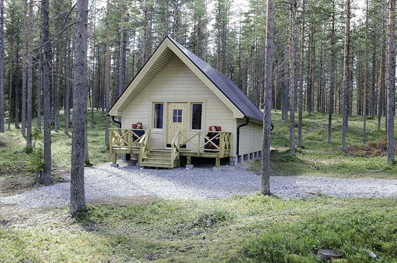 Forest cottages at Wilderness camp Vikheden