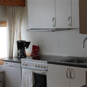 Kjøkkenet inne på Varangertunet feriehus