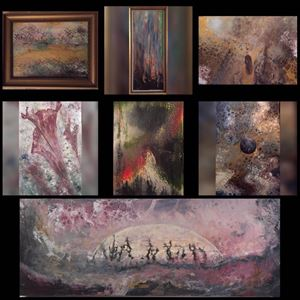 © MEMs Akrylmålningar,  MEMs Akrylmålningar ställer ut sin konst på Tingshuset