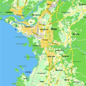 Karta över Orsa.