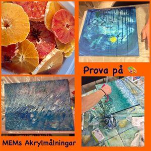 © MEMs Akrylmålningar, Prova på att måla en egen tavla