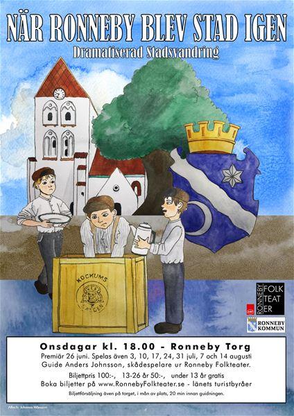 Dramatiserade Stadsvandringar - När Ronneby blev stad igen