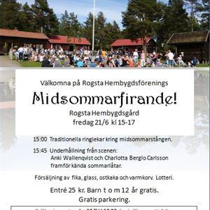 Midsommarfirande på Rogsta Hembygdsgård 21/6 kl 15:00