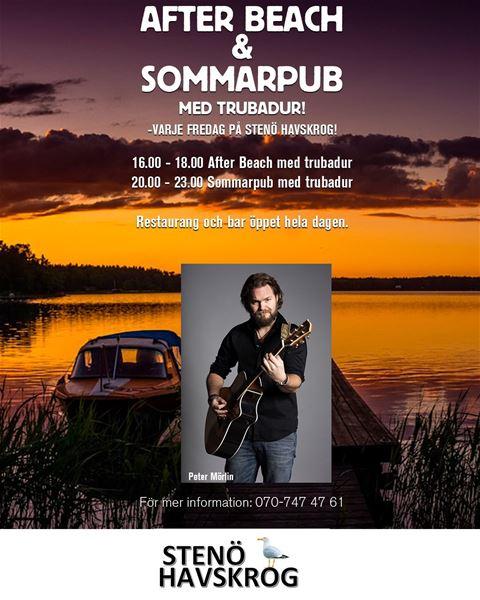 After beach & Sommarpub på Stenö