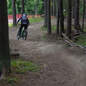 © Copy: Gustavsbergsbacken, Downhill cykling på Frösön