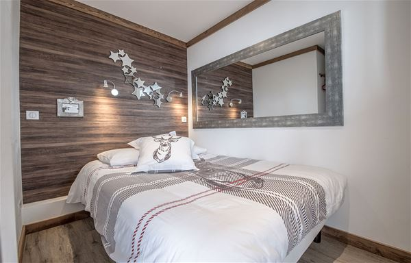 2 rooms cabin 4 people (2 adults- 2 children) ski-in ski-out / RESIDENCE 1650 7R (Mountain of Charm)