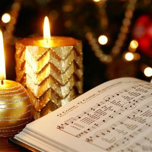 Candles and music notes book