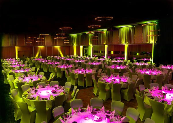 © radisson blu, a room decorated to a banquet
