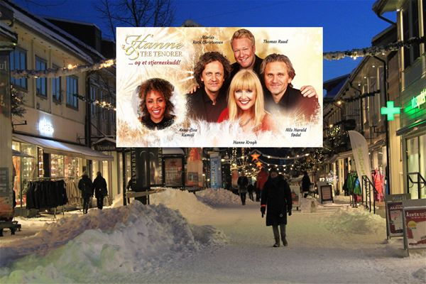 Hanne Krogh and three tenors visit Lillehammer and the concert in Lillehammer Church.