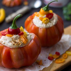 © veita, vegan filled pumpkin