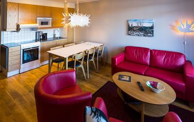 Ski Lodge-lägenhet 108, 6 bäddar, djurtillåten, Hamrafjället