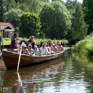 Church boat rowing on Dellen
