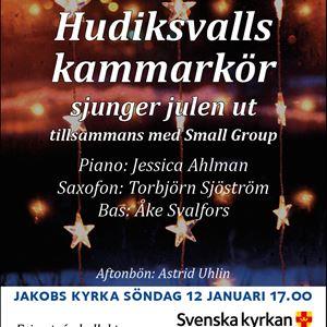 Hudiksvalls kammarkör sjunger julen ut i Jakobs kyrka