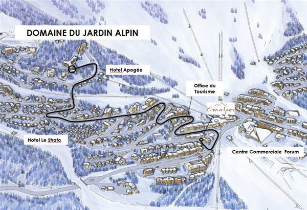 2 pièces et coin montagne 6 personnes / DOMAINE DU JARDIN ALPIN 102A (Montagne) / Séjour Sérénité