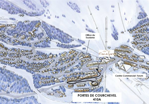 3 pièces 5 personnes / PORTE DE COURCHEVEL 410 A (montagne de charme) / Séjour Sérénité