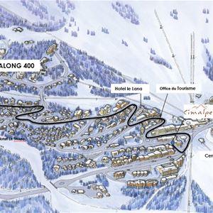 3 rooms 6 people ski-in ski-out / PRALONG 400 (mountain)