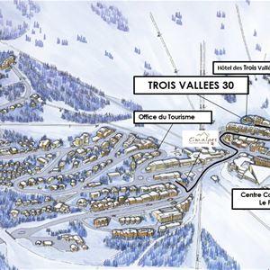 3 pièces 6 personnes skis aux pieds / TROIS VALLEES 30 (Montagne) / Séjour Sérénité