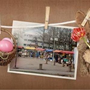Traditional Easter Market at the towns square of Mariehamn