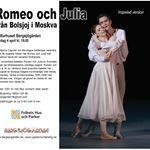 """INSTÄLLT! - Balett på bio - """"Romeo och Julia"""""""