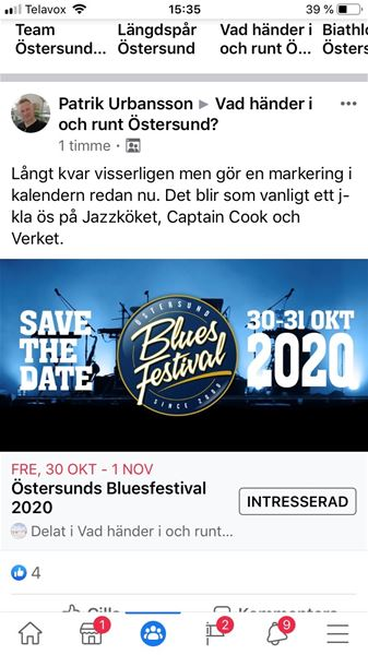 CANCELLED Östersund Bluesfestival