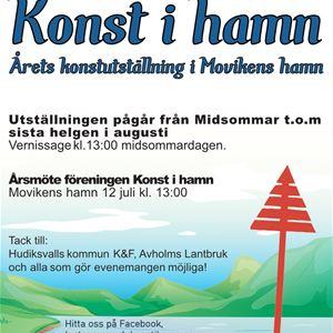 Utställning i Movikens hamn
