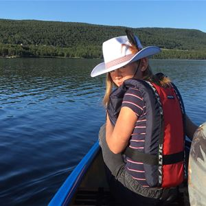 Adventure with a canoe on Jovattnet