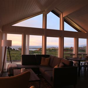 © Hov Camping, Hov Gård, Lofoten Lodge - inside one of the cabins.