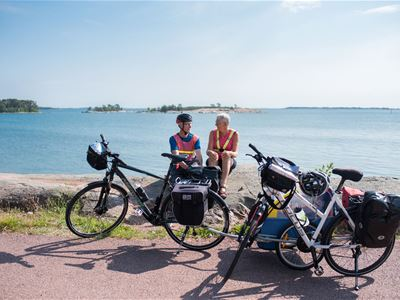 2 days biking incl accomodation at Klintvägen Apartments in Mariehamn