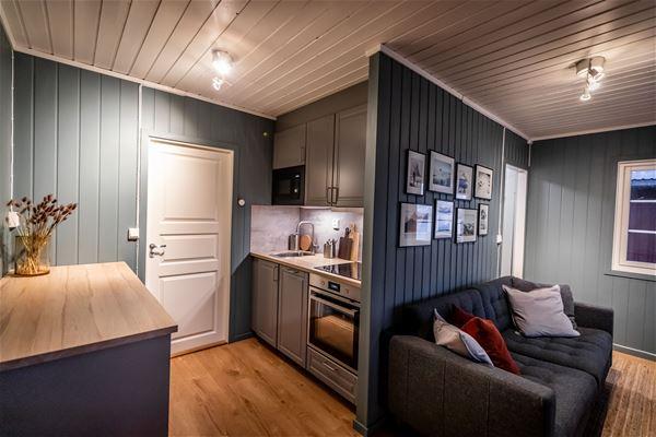 The waterfront cabins (rorbu) at Skårungen