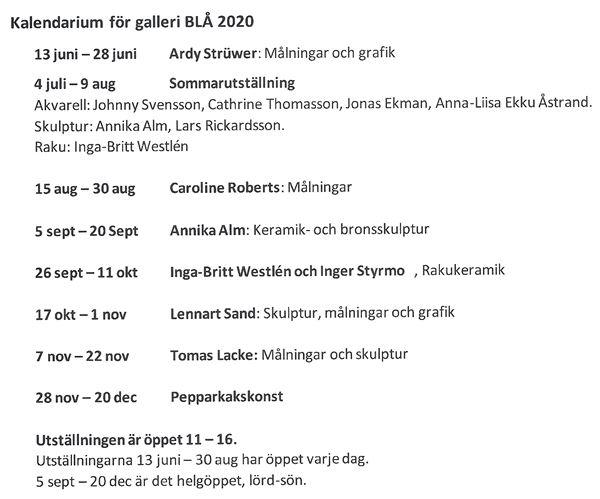 Utställning på Galleri BLÅ