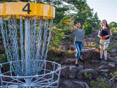 DiscGolf i Kastelholm och östra Åland