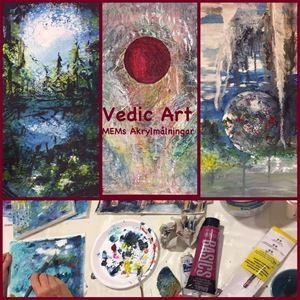 © MEMs Akrylmålningar, Vedic Art målarkurs