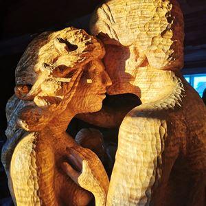 Skulpturutställning i Hyttan