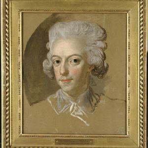© Foto Nationalmuseum Orientation: 1, Tavla med man med vitt vågigt hår.