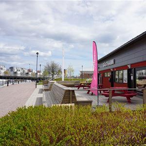 Evelina Widerberg, Gävle gästhamn, servicehus, Turistcenter