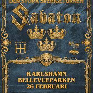 Poster of Sabatons gig in Karlshamn