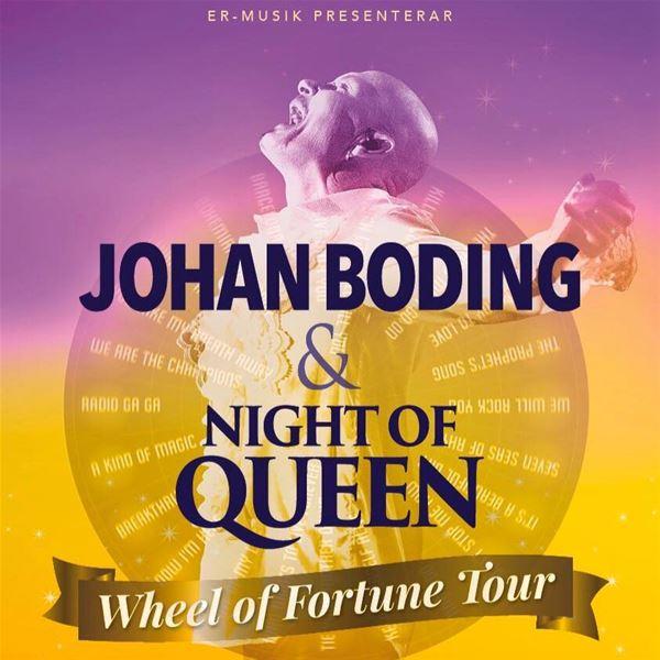© https://www.facebook.com/NightOfQueense-En-hyllning-till-Queen-175033616194/, Johan Boding & Night of Queen - QUEEN 50 years