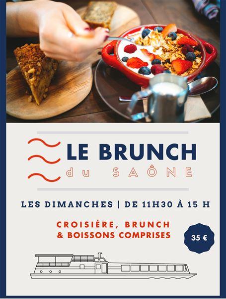 """Le Brunch du dimanche à bord du bateau """"Le Saône"""""""