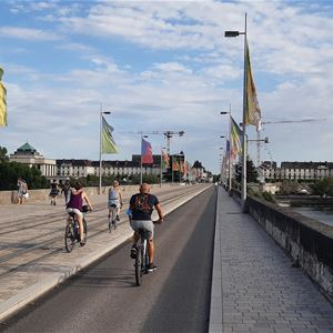 Guided visit by bike of the city of Tours in English