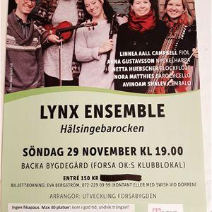 INSTÄLLT - Lynx Ensemble - Hälsingebarocken