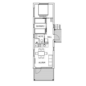 Planritning över lägenheten.