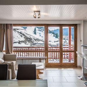 1 studio 4/5 personnes skis aux pieds / RESIDENCE 1650 28 (Montagne de Charme) / Séjour Sérénité