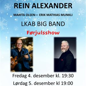 © Narvik Kulturhus, Pre Christmas Show with Frode Alnæs, Rein Alexander, LKAB Bigband and others