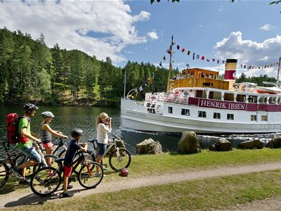 Cycle trip 110km – along the Telemark Canal